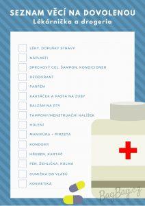 Seznam veci na dovolenou - drogerie