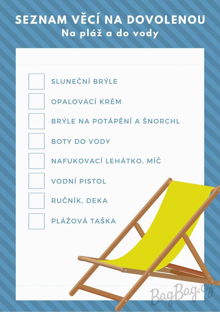 Seznam veci na dovolenou - na plaz