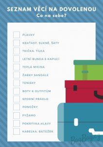 Seznam veci na dovolenou - obleceni