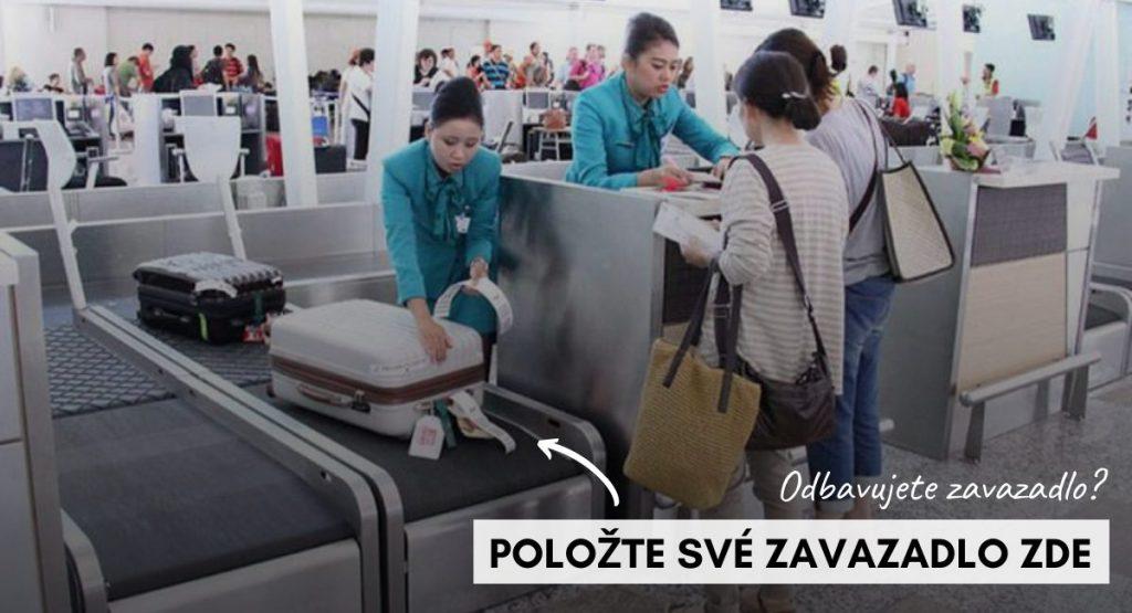 letiste odbaveni zavazadla