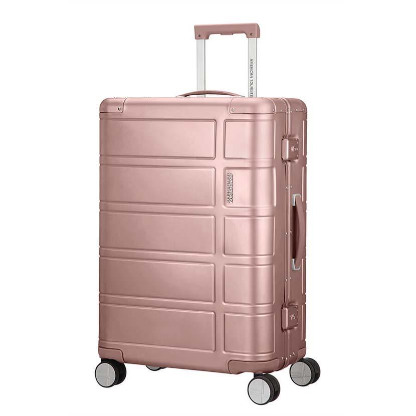 hlinikovy kufr american tourister ruzovy